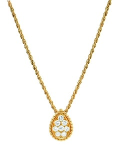 Serpent Boheme pendant in yellow gold set with diamonds2